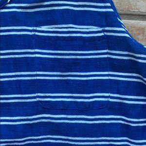 J. Crew Swim - 3/$30 J. Crew Blue Gauze Tank Dress in Stripe XL